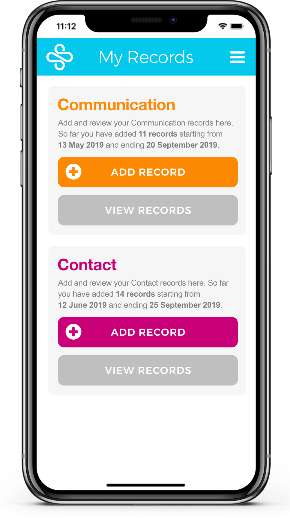 On Record App Add Record